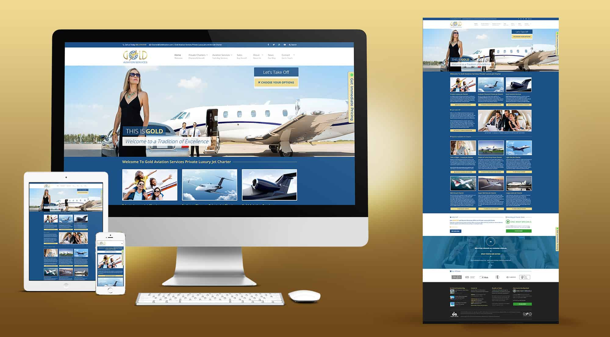 65b183de9b1 Gold Aviation - Website Design